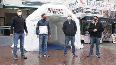 Grindetti inauguró una nueva barrera sanitaria en un punto estratégico, la estación de Lanús
