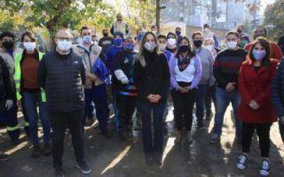 Tres de Febrero: Firmaron convenio entre el Municipio y Aysa para obras con foco en la reactivación económica