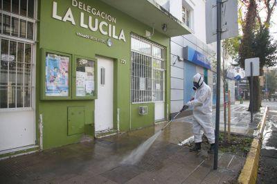 Vicente López continúa con las tareas de limpieza y desinfección de espacios públicos