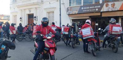 Trabajadores de delivery marcharon pidiendo seguridad