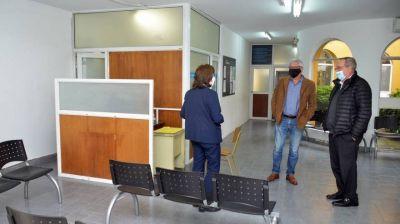 Tandil: el intendente Lunghi supervisó el final de la obra de ampliación del Centro Cívico de Villa Italia
