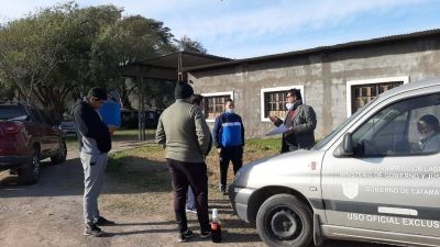 """Reclamo de trabajadores de """"Aguas Piedra Blanca"""""""