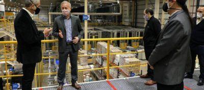 Ferraresi visitó la empresa Droguería del Sud