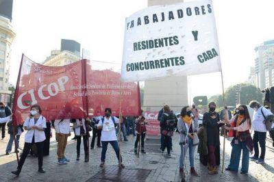 Sindicatos y asociaciones de la salud denunciaron en el Obelisco el estado del sistema sanitario