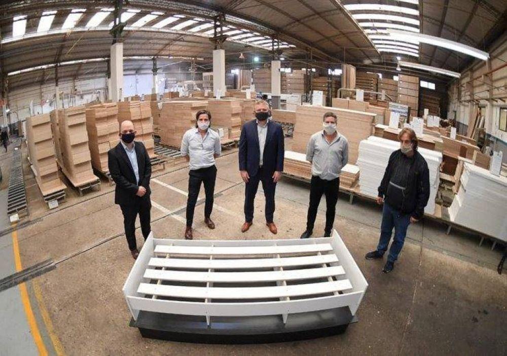 Una empresa de San Isidro donó mil camas para sumar a los centros no hospitalarios
