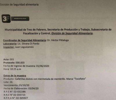 Tres de Febrero: el informe de bromatología confirmó lo esperado sobre las galletitas con gusanos