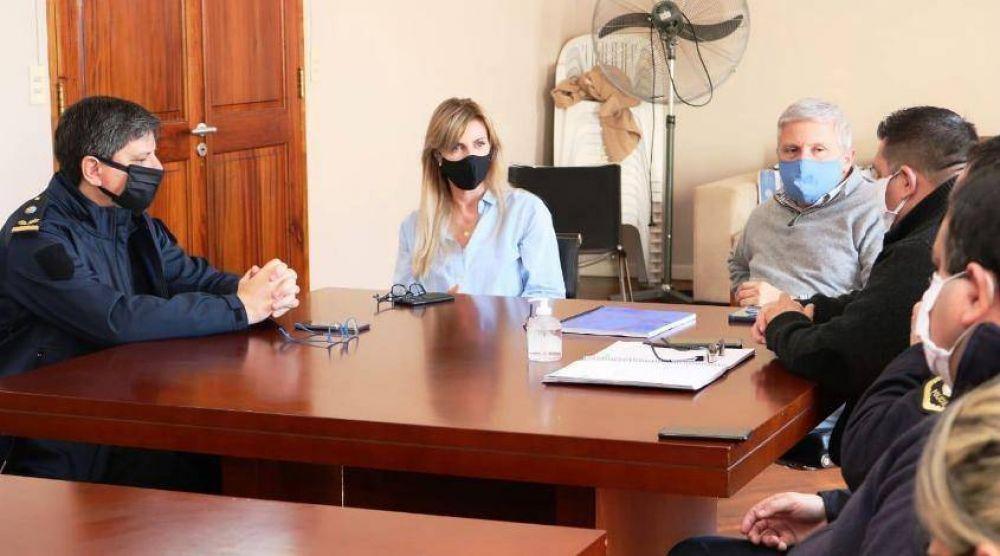 Fassi, en un encuentro con la cúpula de Seguridad local