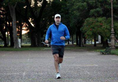 En medio de la polémica por los runners, Rodríguez Larreta salió a correr