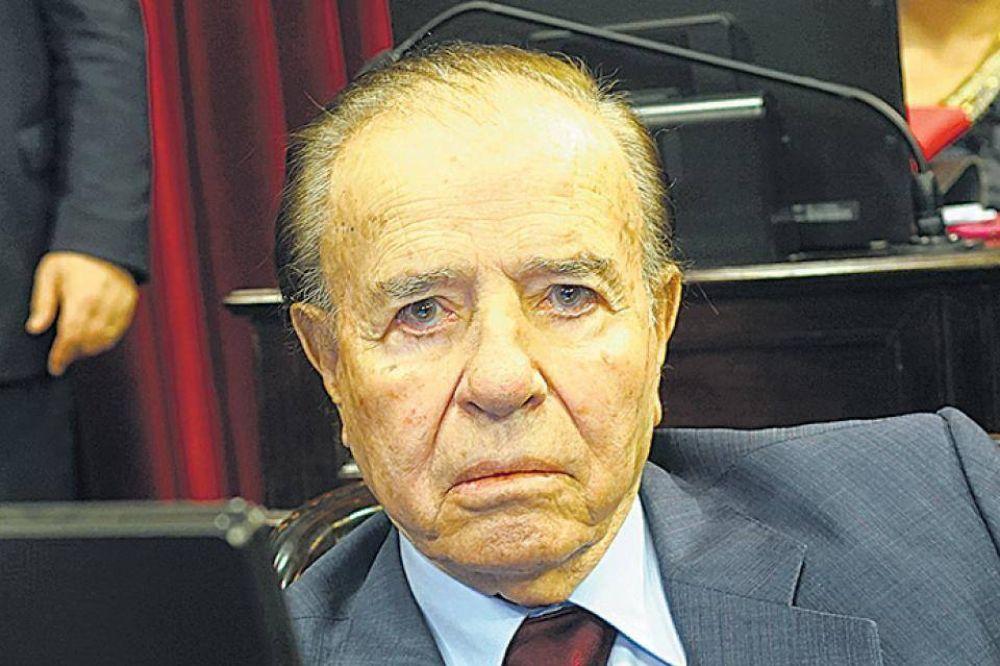 Carlos Menem internado en terapia intensiva por una neumonía
