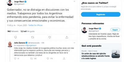 Jorge Macri y Julio Zamora se cruzaron en Twitter