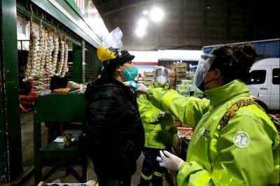 Covid-19: realizaron operativo sanitario en el Mercado Regional de La Plata