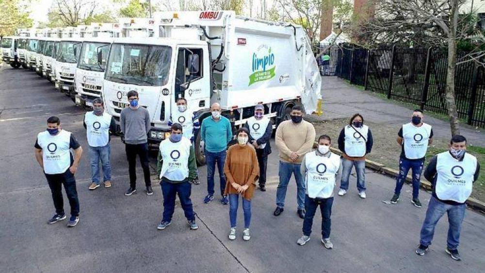 Quilmes recibió 10 camiones nuevos para el sistema de recolección de residuos