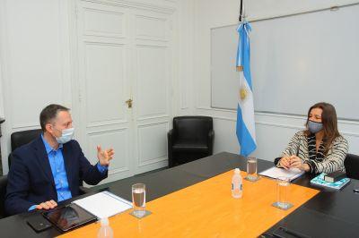 Fernando Gray se reunión con Sabina Frederic