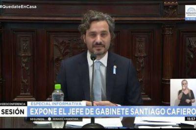 El jefe de Gabinete brinda su primer informe en el Senado