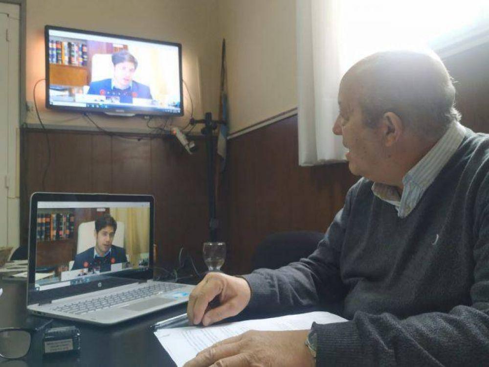 Jorge Paredi firmó un convenio de asistencia financiera con Axel Kicillof