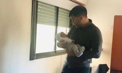 Final para el escándalo: Echarren conoció a su bebé y le dio la