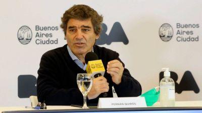 Quirós dijo que en el sistema público quedan 251 camas de terapia intensiva libres, sobre un total de 400