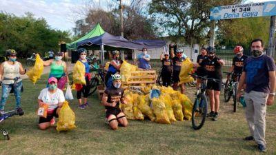 """Más de 100 goyanos fueron partícipes de la """"carrera contra la basura"""""""