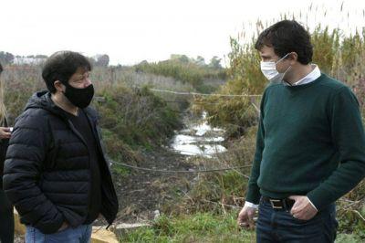 Lucas Ghi recorrió la Cuenca Céspedes en Palomar y anunció nuevas obras