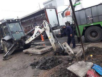 Continúan los trabajos de servicios públicos en Varela