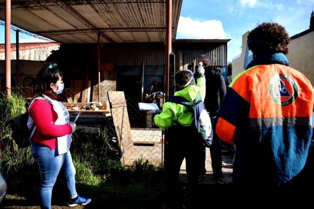 Coronavirus: continúan los operativos sanitarios en barrios populares de La Plata