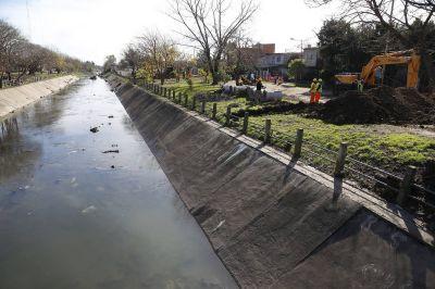 Comenzó la obra de contención del Canal José Ingenieros