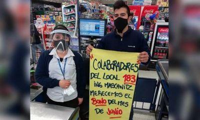 Conflicto en el Carrefour de Maschwitz: reclaman el pago de un bono de $5.000