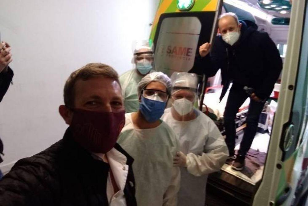 lnsaurralde recibió el alta tras ser tratado con plasma de pacientes recuperados