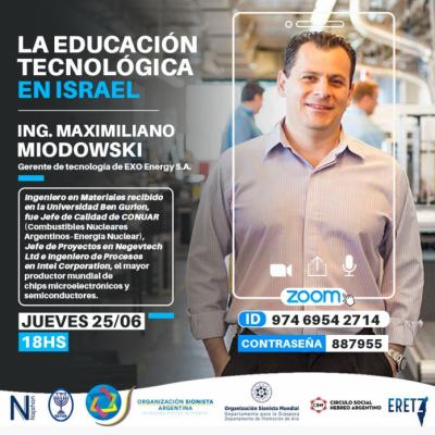 La OSA presenta hoy la conferencia «La educación tecnológica en Israel»