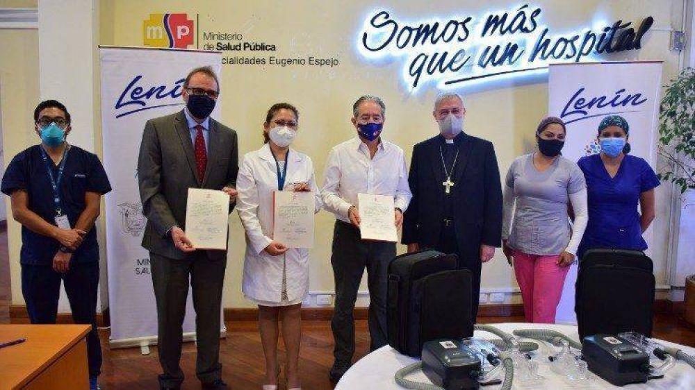 Ecuador: llegaron los respiradores donados por el Papa