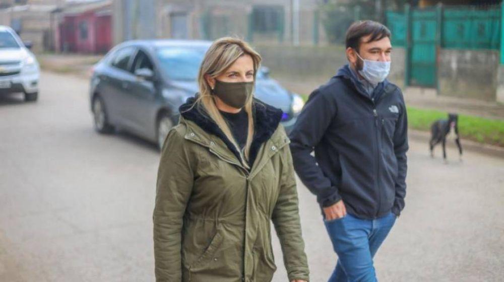 Fassi supervisó otro operativo de desinfección en Cañuelas