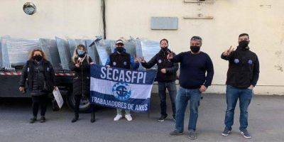 SECASFPI donó mamparas aislantes para los trabajadores de ANSES