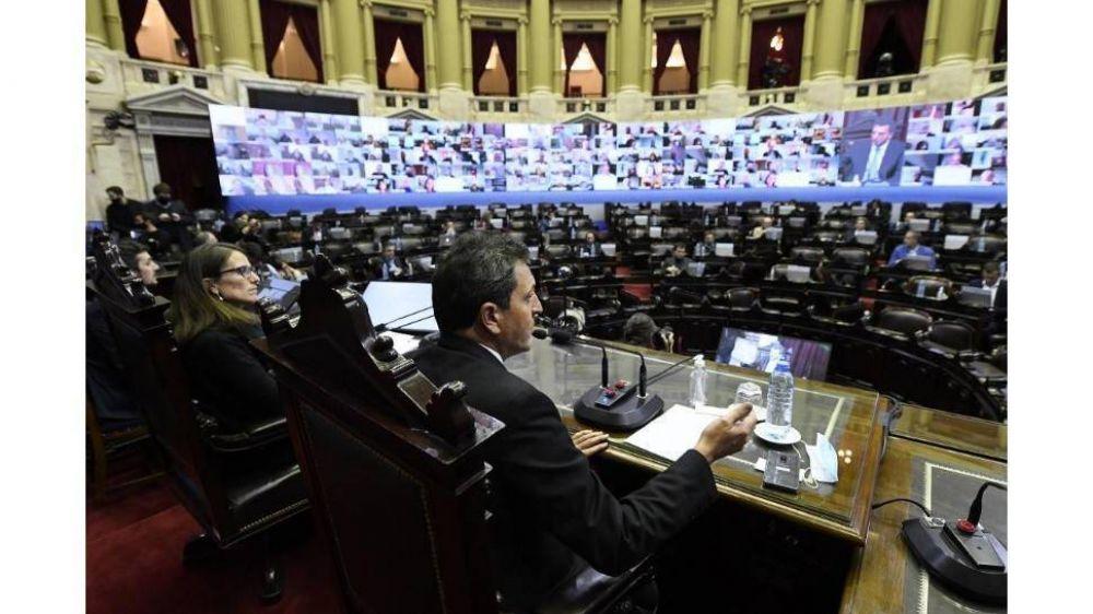 El oficialismo y la oposición negocian la prórroga del protocolo de sesiones virtuales en Diputados