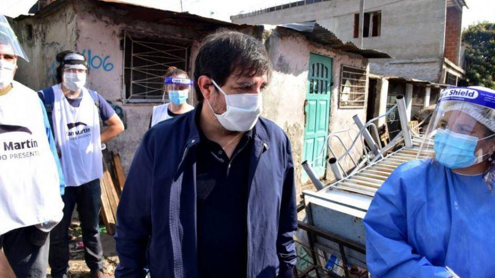 San Martín tiene el récord de muertes por habitantes y es el foco de coronavirus en el Conurbano norte