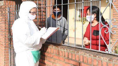 San Fernando busca casa por casa, en distintos barrios, casos sospechosos de coronavirus