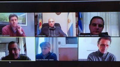 Intendentes de la región se reunieron virtualmente con el ministro de Obras nacional