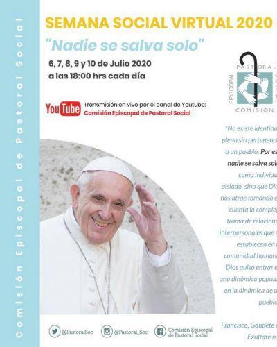 La Semana Social 2020, será virtual: