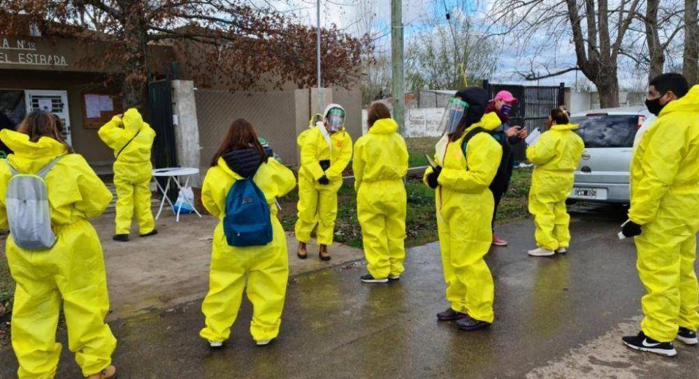 El operativo de rastrillaje sanitario continuó por Las Praderas