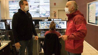 Grindetti supervisó operativos de control de tránsito en el comienzo de una nueva fase de la cuarentena