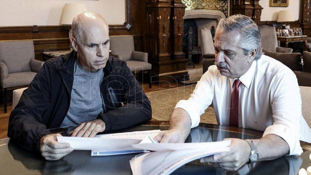 Alberto Fernández y Horacio Rodríguez Larreta analizaron la marcha de la nueva fase de la cuarentena