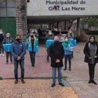 Las Heras: Sabbatella y Sartori se reunieron en la municipalidad y acompañaron los operativos de salud