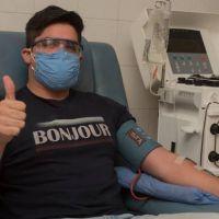 """Quién es Facundo Ahumada, el """"superdonante"""" de plasma argentino para pacientes con COVID-19"""
