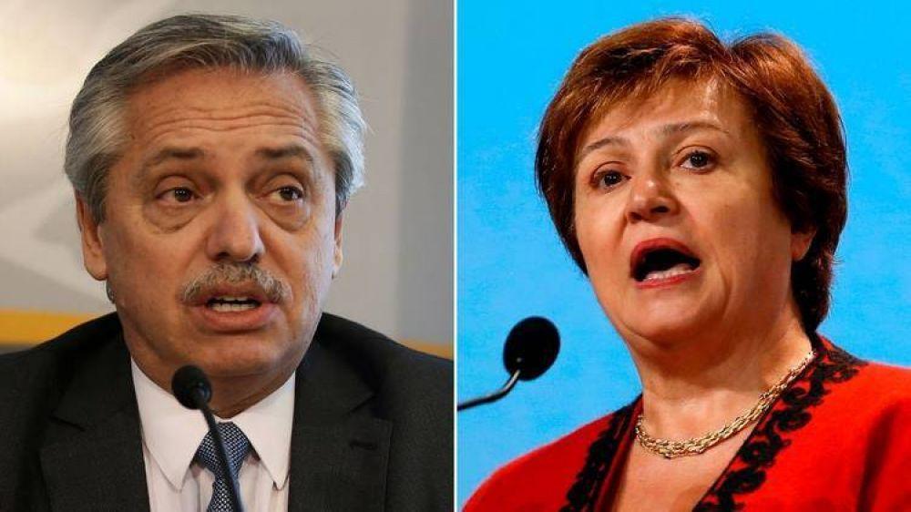 Alberto Fernández y Kristalina Georgieva analizaron la oferta a los bonistas y un posible Stand-By para la Argentina