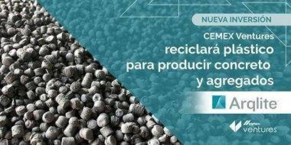 Cemex Ventures reciclará plástico para producir hormigón y áridos