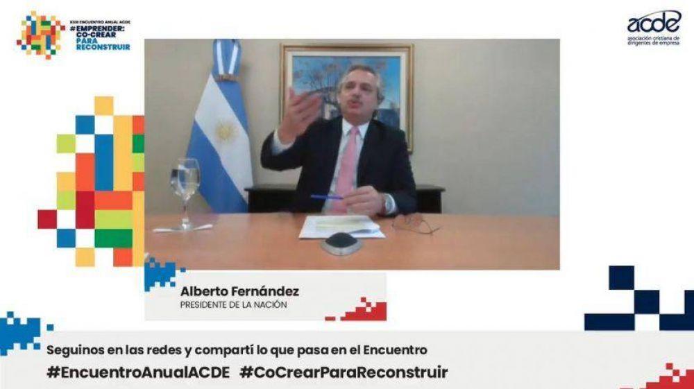 Alberto Fernández pidió a los empresarios construir
