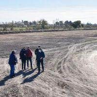 Passaglia recorrió las obras hídricas de la zona sur de San Nicolás
