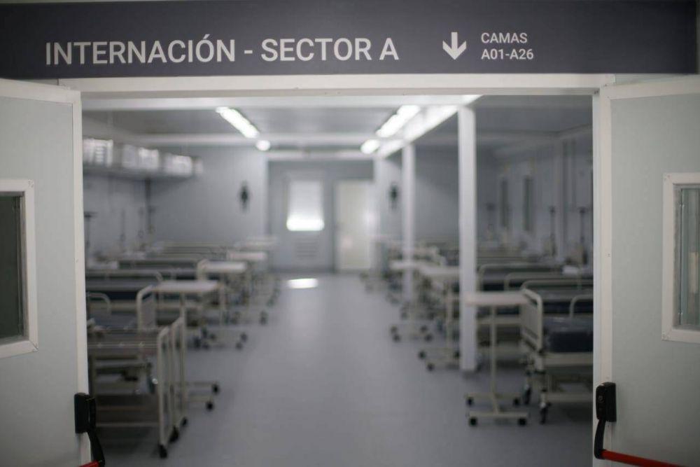 El Hospital Modular de Tres de Febrero ya cuenta con camas de internación