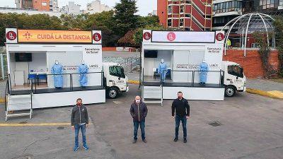 Lanús cuenta con dos nuevos consultorios móviles para testeos de coronavirus