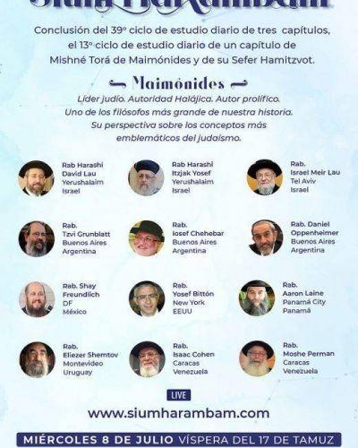 Jabad celebra Sium HaRambam: Conclusión del 39º ciclo de estudio diario de Mishné Torá