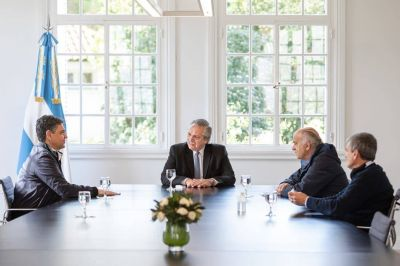 La muerte de Fabián Gutiérrez: el Presidente recibió a Jorge Macri y Néstor Grindetti, líderes de la pelea contra el sector de